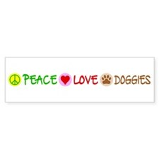 Peace-Love-Doggies Bumper Sticker