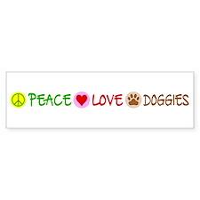 Peace-Love-Doggies Car Sticker