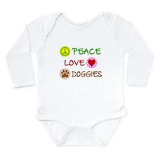 Peace-Love-Doggies Long Sleeve Infant Bodysuit