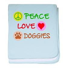 Peace-Love-Doggies baby blanket