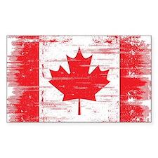 Vintage Canadian Flag  Decal