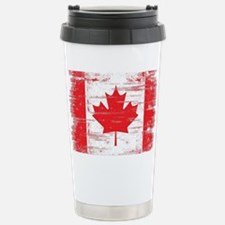 Vintage Canadian Flag  Travel Mug
