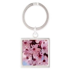 cherry blossom Square Keychain