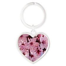 cherry blossom Heart Keychain