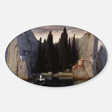 Isle of the Dead by Arnold Bocklin Sticker (Oval)