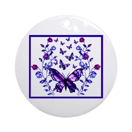 Purple Passion Rose Garden Ornament (Round)