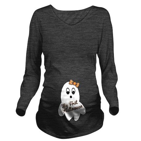 My First Halloween Long Sleeve Maternity T-Shirt
