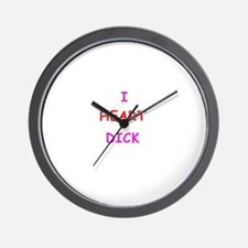 I HEART DICK Wall Clock