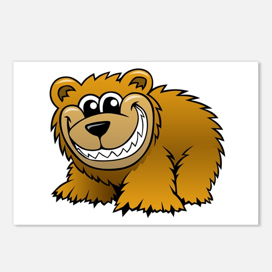 Cartoon Grizzly Bear Postcards (Package of 8)