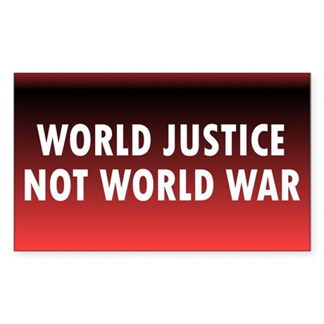 WORLD JUSTICE ... Rectangle Sticker