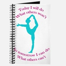 Gymnast Today I will do what others won't so tomor