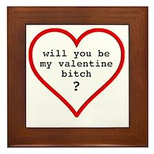 Valentine's day t-shirt - black text Framed Tile