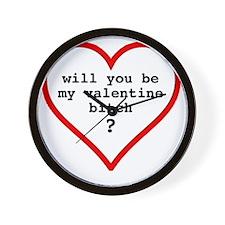Valentine's day t-shirt - black text Wall Clock