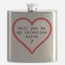 Valentine's day t-shirt - black text Flask