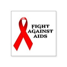 "AIDS Square Sticker 3"" x 3"""