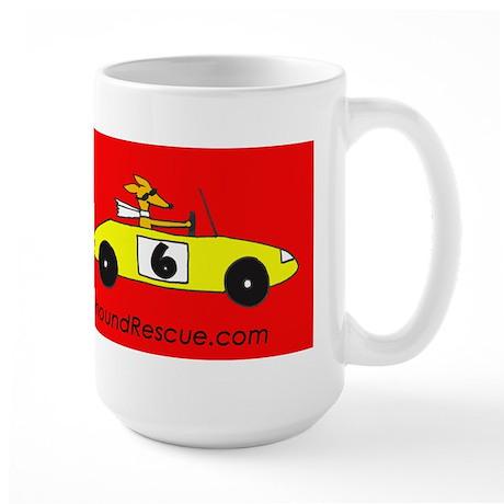 Race Cars, Not Dogs Large Mug