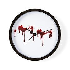 Blood Spatter Wall Clock
