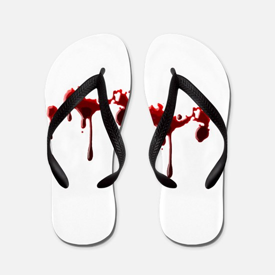 Blood Spatter Flip Flops