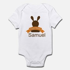 Personalized Easter Vintage Bunny Infant Bodysuit
