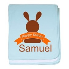 Personalized Easter Vintage Bunny baby blanket