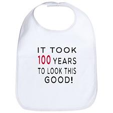 It Took 100 Birthday Designs Bib
