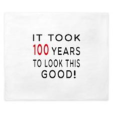 It Took 100 Birthday Designs King Duvet