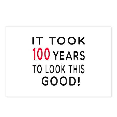 It Took 100 Birthday Designs Postcards (Package of