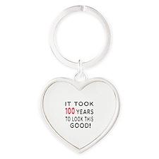 It Took 100 Birthday Designs Heart Keychain