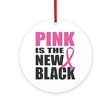 Pink New Black Ornament (Round)