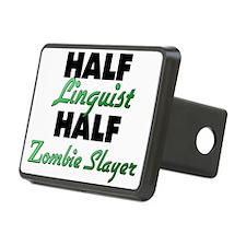 Half Linguist Half Zombie Slayer Hitch Cover