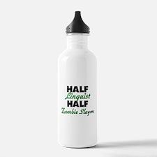 Half Linguist Half Zombie Slayer Water Bottle