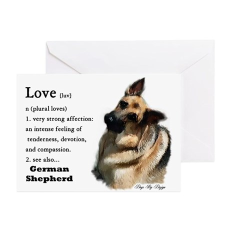 German Shepherd Love Is Greeting Cards (Package of