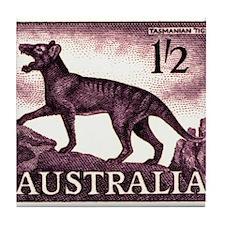 1959 Australia Tasmanian Tiger Postage Stamp Tile