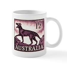 1959 Australia Tasmanian Tiger Postage Stamp Mugs