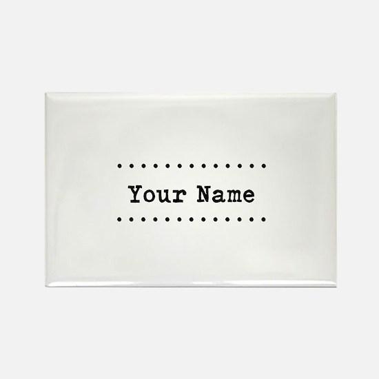 Custom Name Rectangle Magnet