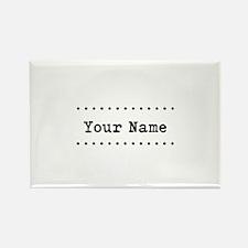 Custom Name Rectangle Magnet (100 pack)