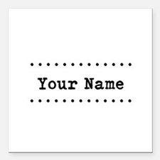 "Custom Name Square Car Magnet 3"" x 3"""