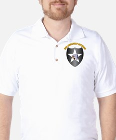 SSI - 2nd Infantry Division with Text Golf Shirt