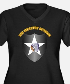SSI - 2nd Infantry Division with Text Women's Plus