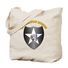 SSI - 2nd Infantry Division with Text Tote Bag