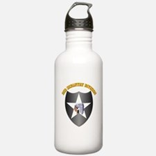 SSI - 2nd Infantry Division with Text Water Bottle