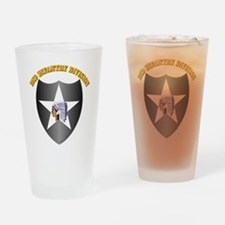 SSI - 2nd Infantry Division with Text Drinking Gla