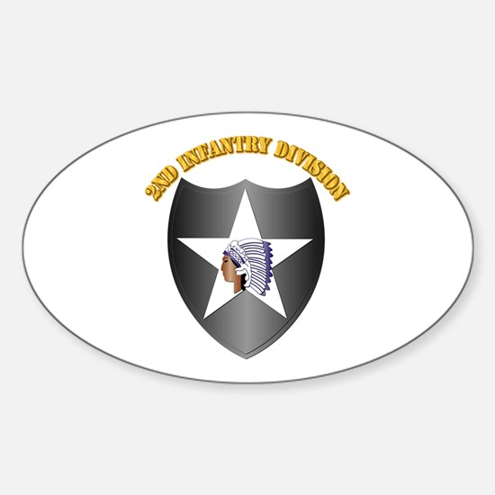 SSI - 2nd Infantry Division with Text Decal