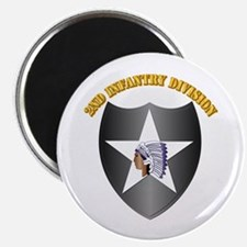 """SSI - 2nd Infantry Division with Text 2.25"""" Magnet"""