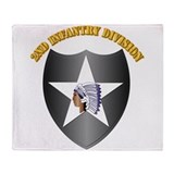 2nd infantry division military Fleece Blankets