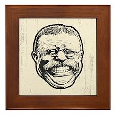 Teddy Grin Framed Tile