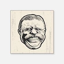 "Teddy Grin Square Sticker 3"" x 3"""