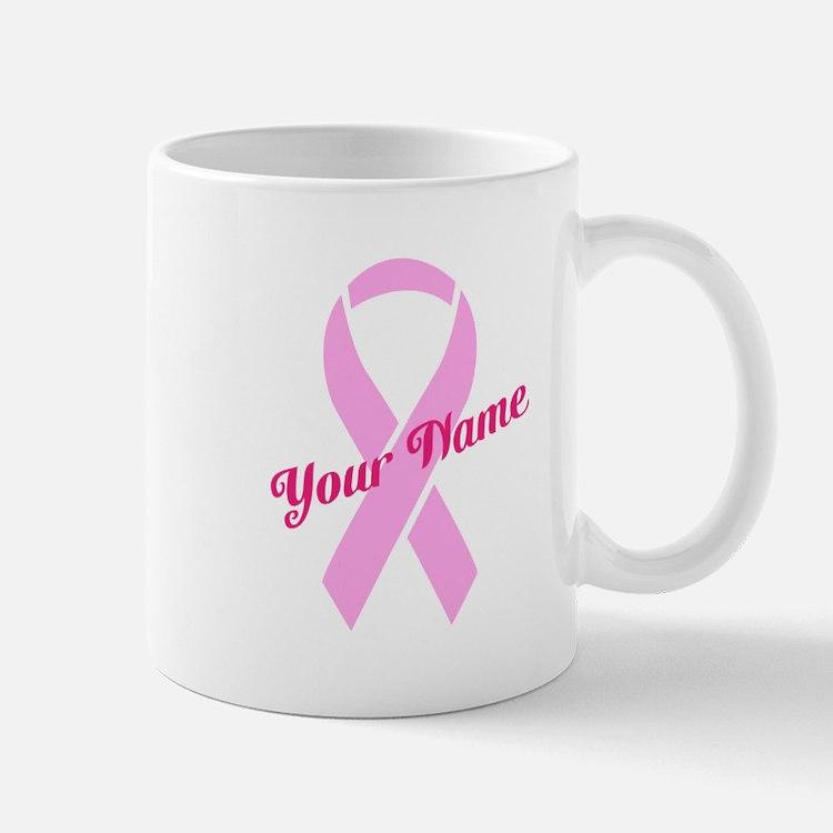 Custom Pink Ribbon Mug