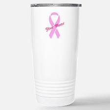 Custom Pink Ribbon Travel Mug