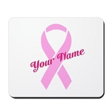 Custom Pink Ribbon Mousepad